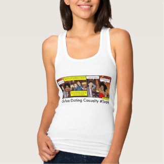 Online Dating Casualty Jersey Racerback Tank Top