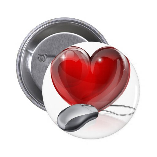 Online dating concept pin
