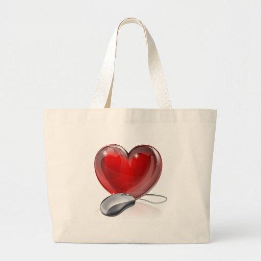 Online dating concept bag