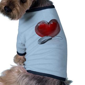 Online dating concept pet shirt