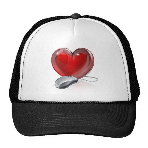 Online dating concept trucker hats