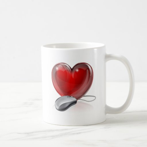 Online dating concept mugs