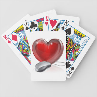 Online dating concept bicycle poker cards