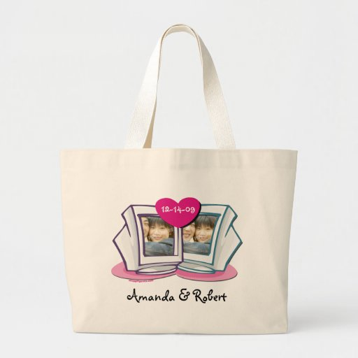 Online Dating Couples Tote Bag