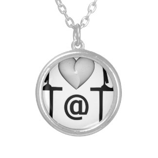 online dating round pendant necklace