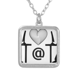 online dating square pendant necklace