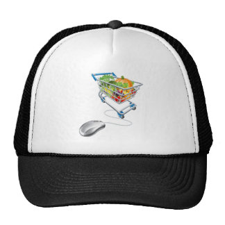 Online grocery shopping concept mesh hats