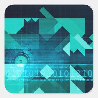 Online Marketing for Business Customer Online Square Sticker
