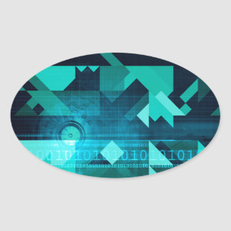 Online Marketing for Business Customer Online Oval Sticker