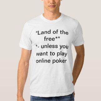 Online Poker Prohibition Protest T-shirt