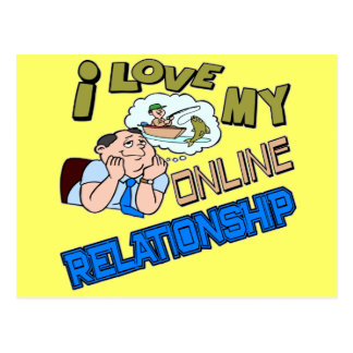 Online Relationship Fishing T-shirts Gifts Postcards