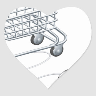 Online shopping cart mouse heart stickers
