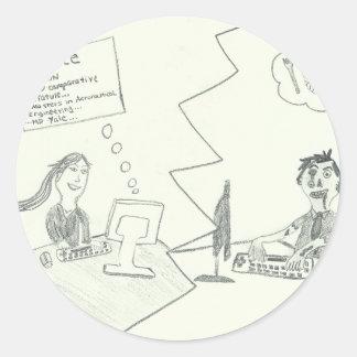 OnlineDatingArt-5.tif Round Sticker