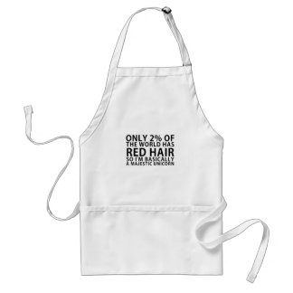 Only 2% of the World has Red Hair so Im Basically Standard Apron