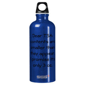 Only 3 oz SIGG traveller 0.6L water bottle