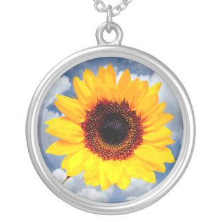 Only a Sunflower Blossom + your text & ideas Custom Jewelry