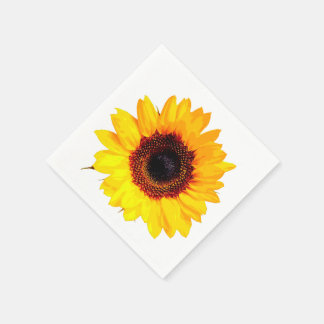 Only a Sunflower Blossom + your text & ideas Paper Serviettes