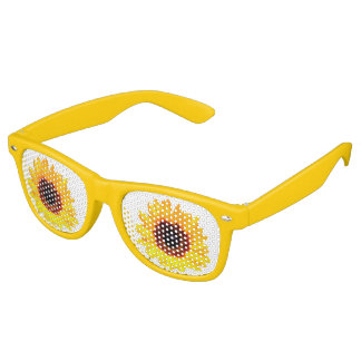 Only a Sunflower Blossom + your text & ideas Retro Sunglasses