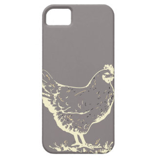 Only Aluminum gray chicken silhouette Case For The iPhone 5