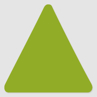 Only apple green cool solid color background triangle sticker
