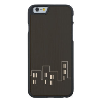 Only black cityscape Carved smartphone case