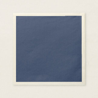 Only blue steel cool solid color OSCB36 Paper Serviettes