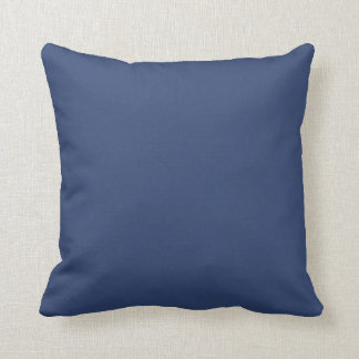 Only Blue steel solid color Pillows