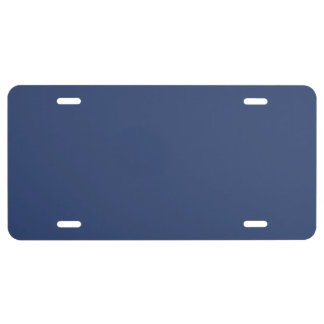 Only Blue steel solid color license plate covers