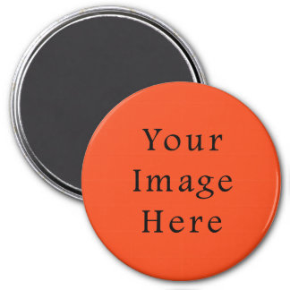 Only Bright Orange Color Trend Blank Template 7.5 Cm Round Magnet