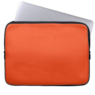 Only Bright Orange Color Trend Blank Template Computer Sleeves