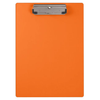 Only brilliant orange simple solid color OSCB25 Clipboard