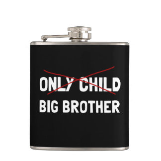 Only Child Big Brother Hip Flask