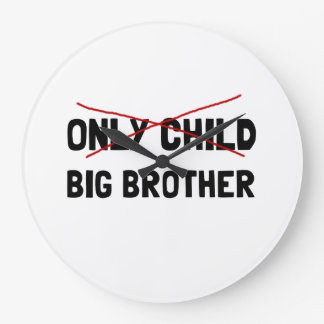 Only Child Big Brother Large Clock