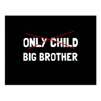 Only Child Big Brother Postcard