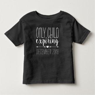 Only Child Expiring - White Toddler T-Shirt