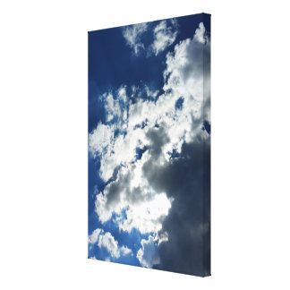 Only clouds canvas print