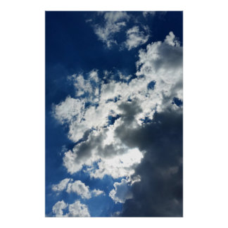 Only clouds poster