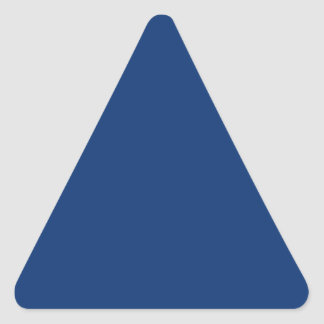 Only cobalt cool blue solid color OSCB03 Triangle Sticker