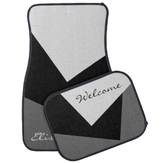 Only Color Background - grey black + your ideas Car Mat