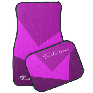 Only Color Background - pink magenta + your ideas Floor Mat