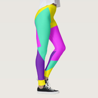 Only Color Background - pink mint purple Leggings