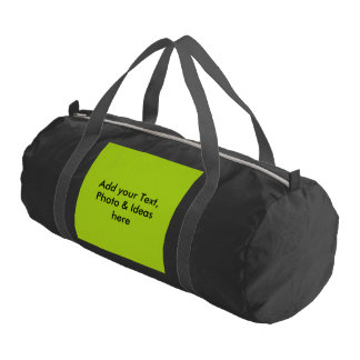 Only Color Background - spring green + your ideas Gym Duffel Bag