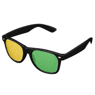 Only Color Background - yellow green + your ideas Retro Sunglasses