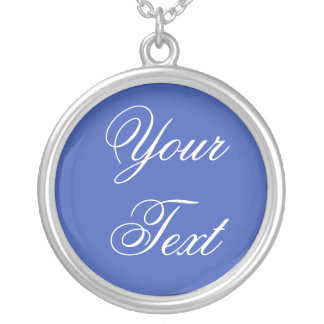 ONLY COLOR / blue + your text Pendant