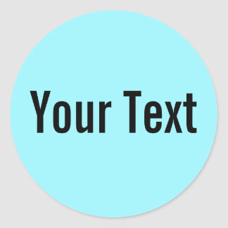 ONLY COLOR cyan + your text Round Stickers