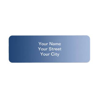 ONLY COLOR gradients - blue Return Address Label
