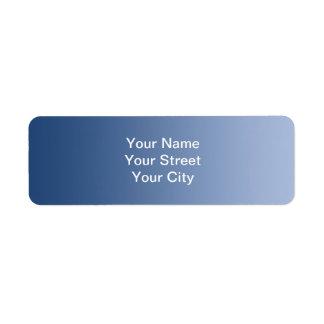 ONLY COLOR gradients - blue Return Address Label
