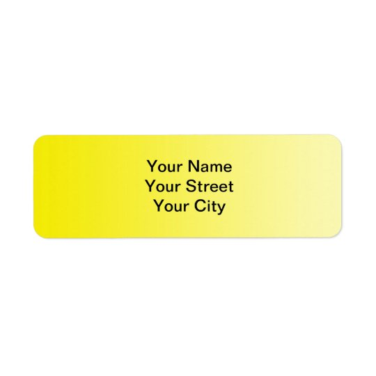ONLY COLOR gradients - lemon Return Address Label