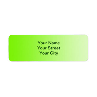 ONLY COLOR gradients - neon green Return Address Label