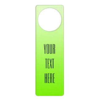 ONLY COLOR gradients neon green + your text Door Hanger